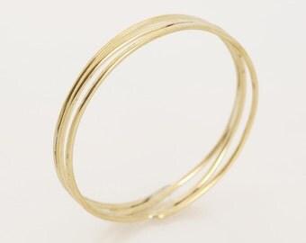 Double Bangle, Skinny Gold Bracelets, Bangle Bracelets, Boho Bracelets, Goldfilled, Boho Jewelry, Boho Bangle, Textured Gold Bangle Bracelet