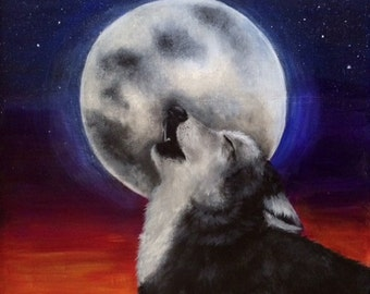 Original Wolf Print