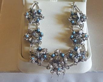 Handmade Silver Baroque Necklace