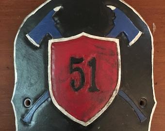 Custom Firefighter Helmet Shield
