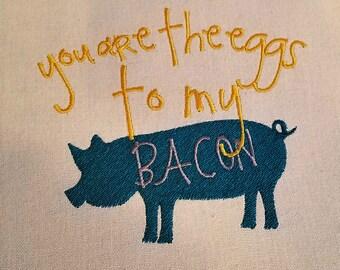 Eggs to Bacon Tea/Dish/Kitchen Towel