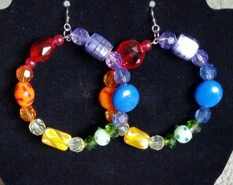 LGBT Large size Bead Hoops