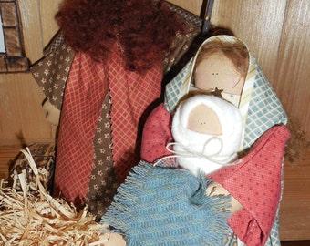 Hollyhocks and Ivy -- Nativity -- Holy Family