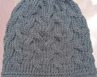 Women's knit cable hat