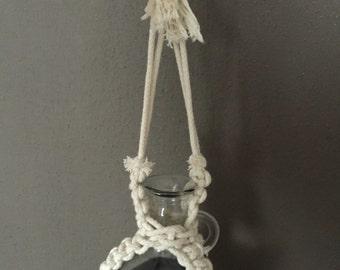 Handmade, macrame flask