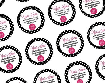 Perfectly Posh Round Personalized Sticker labels - Digital Download -  Graphic Design - Stationary Posh Sample stickers Perfectly Posh