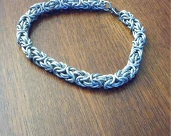 Stainless Steel Byzantine weave chain bracelet
