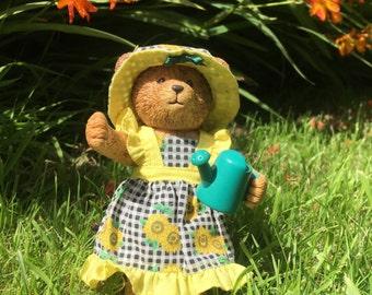 Russ teddy bear, Russ teddy town bear, Sunflower, bear figurine