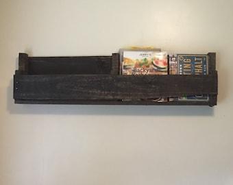 Reclaimed wood wine rack/book shelf