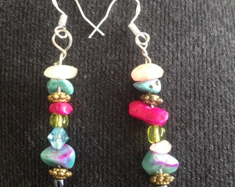 earrings with different beads