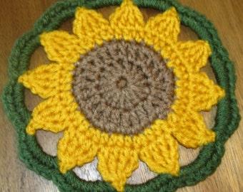 Sunflower Pot Holder/Coaster