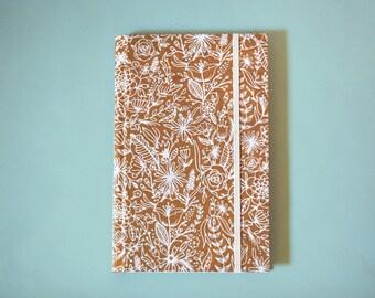 White Flower Hardcover Sketchbook, Notebook, Journal