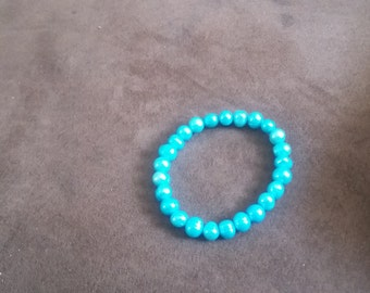 Genuine freshwater pearls light blue bracelet NEW