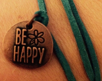 "Wrap bracelet ""Be happy"""