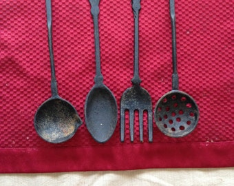 Cast Iron Kitchen Utensil Set