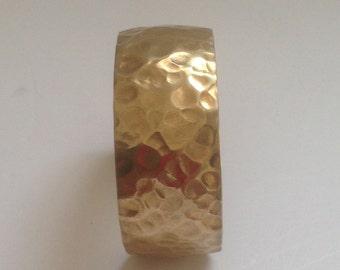 NuGold Brass Hammered Bracelet