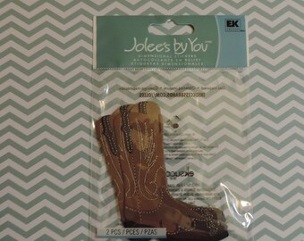 Cowboy boot scrapbook stickers by Jolee's Boutique