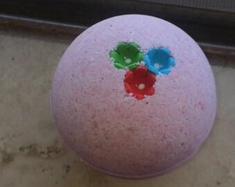 LARGE Pink Flower Power Bath Bomb 7 oz