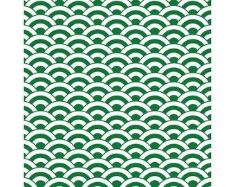 namimoyou-wakakusa / wave pattern like bright green (waves)