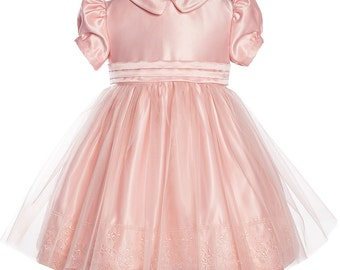 Baby satin special occasion dress