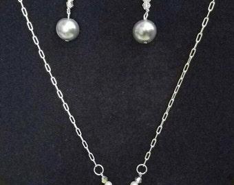 Pearl bridal set