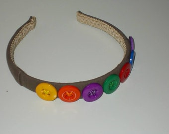 Original colours button headband