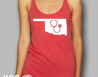 Oklahoma Nurse Doctor StethoscopeTank