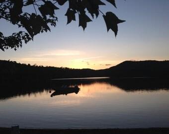 Lakeside Sunset photograph