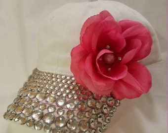 Rhinestone Rose Hat