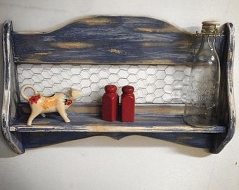 Handmade Distressed Shelf