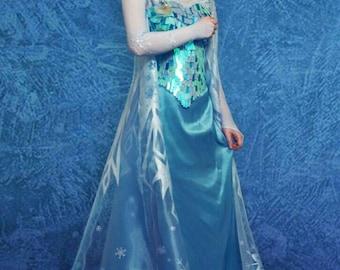 Elsa Frozen cosplay costume