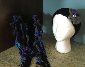 Crochet scarf and ear warmers