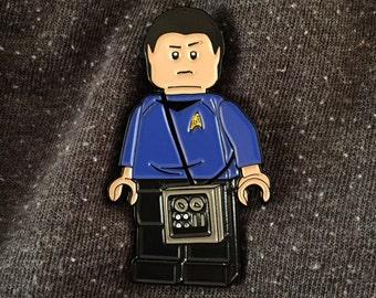 Mr. Block Pin (Star Trek / Lego Mashup) Spock Fans LLAP