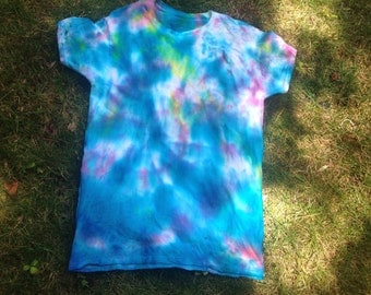 Tie Dye T-shirt (Pink, Blue, Yellow) Size Medium