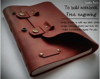 Custom journal /Personalized diary/Free engraving notebook/ Custom sketchbook/ Leather notebook