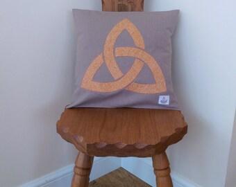 Celtic triangle Harris Tweed Cushion