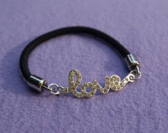 "Silver ""love"" Stretch Bracelet"