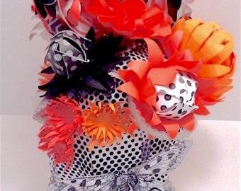 Op Art Neon Flower Hanging