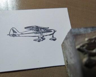 Vintage Zinc/Lead printing block -Pantoon Plane