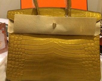 Fashion handbag gold leather, stunning !