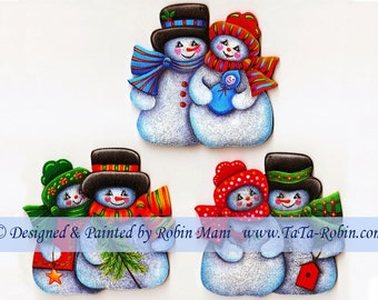 254 Snow Couples Ornaments, Decorative Painting Pattern