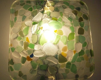 Lamp Applique wall square Seaglass use 002