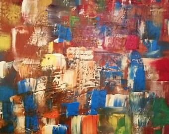 "Handmade acrylic painting ""Dreamworks"""