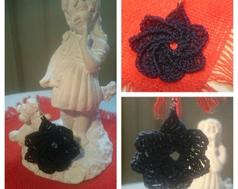 Crochet earrings, handmade, add your own touch to make it yours!