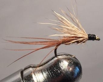 Fly fishing-Mahogany  dun (3) pack dry fly's