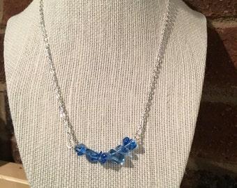 Cornflower Blue Bar Necklace