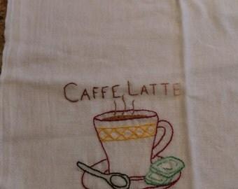 Caffe Latte tea towel
