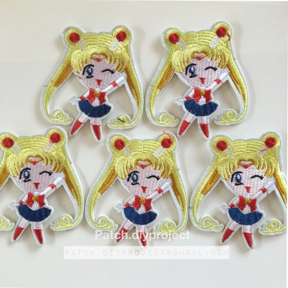 Cute Sailor moon embroidered iron on patch