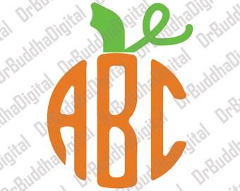 Pumpkin Stem Monogram Topper SVG Collection - Pumpkin Steam DXF - Pumpkin Stem Clipart - SVG Files for Silhouette Cameo or Cricut