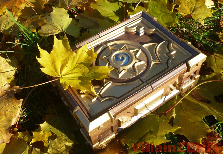 Hearthstone Box Replica 2017 Solid Walnut Free International